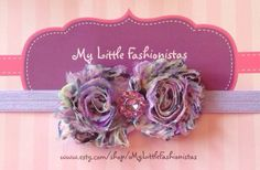 A+beautiful+purple+floral+shabby+headband+by+MyLittleFashionistas,+$6.95