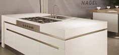 Integrate appliances into your Kitchen design with the functional use of Corian, create deeper worktops or wrap around other features Corian Dupont, Corian Worktops, Corian Solid Surface, Construction Materials, Home Kitchens, Modern Kitchens, New Kitchen, Kitchen Ideas, Surface Design