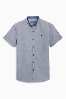 Next Navy Mini Gingham Shirt (3-16yrs) £15.50