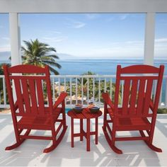 Polywood Rocking Chairs Rocking On A Porch At The Beach Perfect!