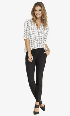 ULTIMATE DOUBLE WEAVE COLUMNIST ANKLE PANT | Express