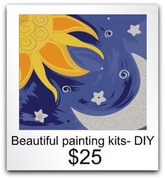 Awesome DIY painting kits :) include paint and brushes, pre ordering now!