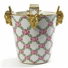 Sevres porcelain milking pails (that must be one pampered cow!)