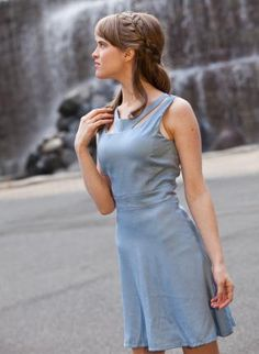 Choker Dress - Powder Blue, Dress, flare skirt blue pastel powder blue, Chic $35