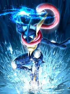 This is my Greninja. She is calm, and silent. She is a level 40, and is competitive against Calem's Greninja. She wants to beat them badly and soon she will.