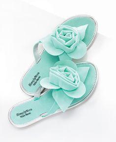In bloom with pastel blue Simply Vera Vera Wang sandals. #Kohls