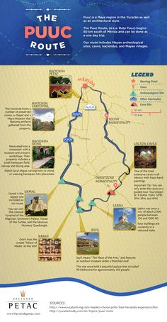Puuc Route Map by Hacienda Petac
