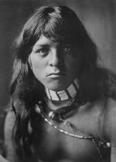 Portrait of a Yan-tsire (Willow Bird), a young San Ildefonso, Pueblo man, 1905. Photographed by Edward S. Curtis.