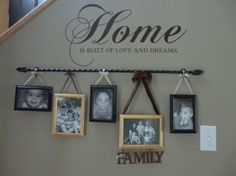 Curtain Rod to Hang Pictures..