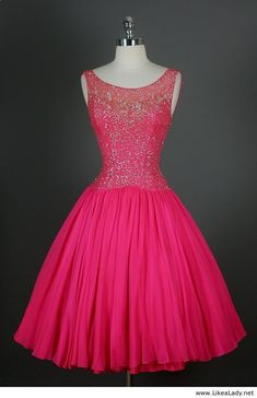 Someone invite me to an event that I can wear this at!!! Pink dress - 50s dress