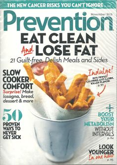 PREVENTION Eat Clean and Lose Fat November 2015 Monthly English Health & Fitness