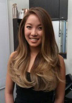 Another shot of Laura with graduated pearl ombre. By Guy Tang