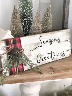 Buffalo Plaid Christmas Decor Ideas - May Arts Ribbon : Buffalo Plaid Christmas . Buffalo Plaid Christmas Decor Ideas - May Arts Ribbon : Buffalo Plaid Christmas Decor Ideas - May Arts Ribbon primitif Christmas Wood Crafts, Christmas Signs Wood, Farmhouse Christmas Decor, Christmas Projects, Holiday Crafts, Winter Wood Crafts, Primitive Christmas Decorating, Barn Wood Crafts, Rustic Winter Decor