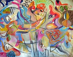 Mixed media on canvas Size 47 x 100 inches (119.38 x 254cm) Signed