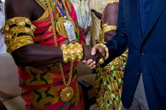 "July 11, 2009  ""He was visiting tribal leaders in Cape Coast, Ghana, and I was struck by the contrast in the attire as the President was shaking hands.""  (Official White House photo by Pete Souza)"