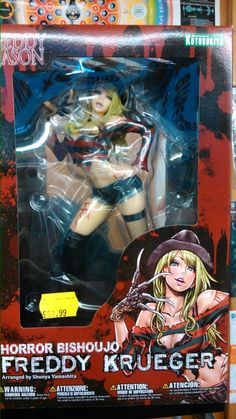 Freddy Kreuger bishoujo figure. Pop in store to check out the Jason Voorhees
