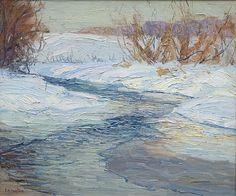 Edward Willis Redfield, River in Winter