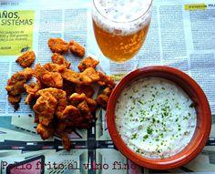 ¡Con un par de guindillas!: Pollo frito al vino fino #ElAsaltablogs