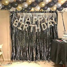 Accessories Happy Birthday Silver Foil Balloon+ 2Pcs Silver Fringe Curtain (3 X 6 Feet) +30 pcs Metallic Balloons Material: Latex  Size: 16 in Curtain Size (L x W) : 6 ft x 3 ft Description: It Has 1 Piece Of Happy Birthday Foil Balloon, 2 Pieces Of Silver Fringe Curtains & 30 Pieces Of Metallic Balloons Sizes Available: Free Size *Proof of Safe Delivery! Click to know on Safety Standards of Delivery Partners- https://ltl.sh/y_nZrAV3  Catalog Rating: ★4.1 (7981)  Catalog Name: Free Mask Essential Beautiful Happy Birthday Foil Balloons CatalogID_817882 C127-SC1621 Code: 833-5482761-
