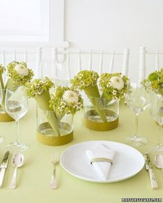 """See the """"Favor Centerpieces: Mini Bouquets"""" in our 50 Great Wedding Centerpieces  gallery"""