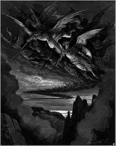 Gustave Dore, Paradise Lost Book, John Milton Paradise Lost, Saint Dominique, Illustrator, Wolf Illustration, Ghost In The Machine, Bristol Board, Halloween Backgrounds