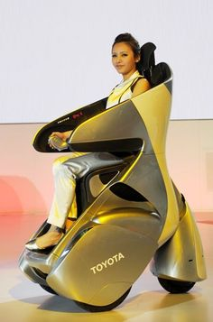Toyota i-Real ~ Wheelchairs of the Future as a 'Personal Mobility Concept' #female #pretty #electric