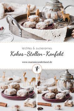 Rezept für gesünderes Kokos-Stollen-Konfekt. Eine herrliche Variante des Weihnachtsklassikers. Einfach herzustellen und gut vorzubereiten. • Maras Wunderland #stollen #stollenkonfekt #kokosstollen #christmastreat #weihnachtsgebäck #weihnachten #maraswunderland Arch Of Titus, Popular Instagram Accounts, Stollen, Cupcakes, Dessert, Foodblogger, Advent, Sweet, Recipes