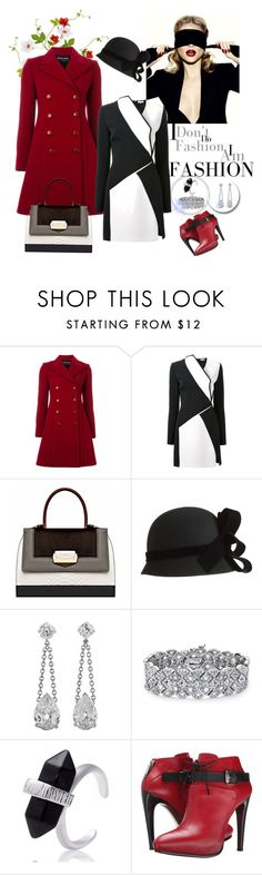 """""""Winter coat"""" by autumn-soul ❤ liked on Polyvore featuring mode, Emporio Armani, Thierry Mugler, The Volon, John Lewis, Palm Beach Jewelry, COSTUME NATIONAL, women's clothing, women's fashion en women"""