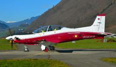 The first new Pilatus PC-21 trainer for the Qatari Air Force.