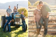 The Hortins live in one of the most beautiful places in Utah (I think) and I jump at the chance to use their propert. Farm Family Pictures, Tractor Pictures, Family Picture Poses, Fall Family Photos, Family Posing, Family Portraits, Picture Ideas, Photo Ideas, Autumn Photography