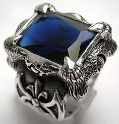 Raven and Sapphire Ring that Nicholas wears...sent by @Jeannie Sigafoos