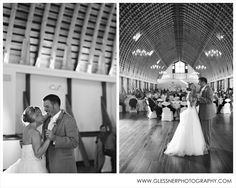 First Dance | Austin and Ammie's beautiful barn wedding at WinMock outside of Winston-Salem, NC | Pink Shoes | Winston-Salem Wedding Photographer | ©2014 Glessner Photography
