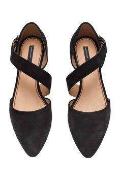 Sandale din piele întoarsă | H&M