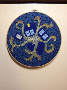 Doctor Who Exploding Tardis Wall Embroidery by Handmade3D on Etsy, $45.00 vincent vangogh