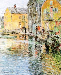 The Smelt Fishers, Cos Cob, Connecticut (Frederick Childe Hassam)