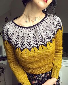 Vintersol - Vintersol Ravelry: Vintersol pattern by Jennifer Steingass Fair Isle Knitting, Knitting Yarn, Knitting Charts, Knitting Patterns, Granny Square Crochet Pattern, Knitting For Beginners, Knitting Designs, Bunt, Knit Crochet