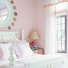 Paint ideas on pinterest pale pink faux painted walls and master bedrooms for Light pink and mint green bedroom