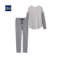 GU(GU)スウェットセット(ボーダー・長袖) - GU ジーユー