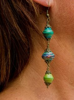 Paper Bead Earrings!