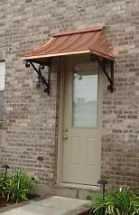 The Juliet Style Awning  Copper With The Lazy Scrolls. New Orleans, La
