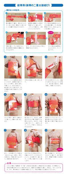 結帯具(袋帯の二重太鼓結び)