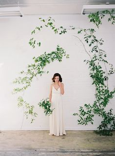 Wild vine arch by Sarah Winward, Honey of a Thousand Flowers . Photo by Rylee Hitchner, styling by Ginny Au, Hair by Aubrey Nelson
