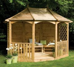 Forest Burford Pavilion Large Wood Gazebo Sale  http://gazebokings.com/luxury-metal-framed-garden-party-gazebos/