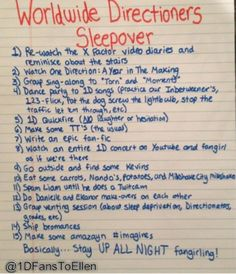 Wordwide Directioners Sleepover. wahoo!>>> HOW I WISH WE COULD ACTUALLY DO THIS.