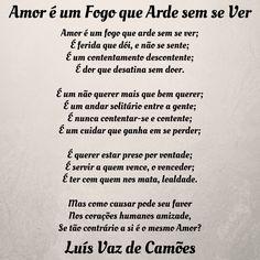 Luís de Camões | Amor é um fogo que arde sem se ver