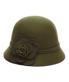 Look at this #zulilyfind! Chocolate Pinwheel Wool Cloche #zulilyfinds