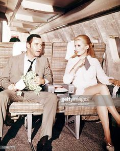 American actor Jack Lemmon as Howard Brubaker and French actress Catherine Deneuve as Catherine Gunther in a scene from 'The April Fools' directed by...