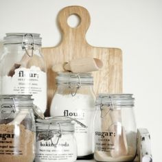 Personalize your jars and glassware with this easy decal tutorial (via The Painted Hive)