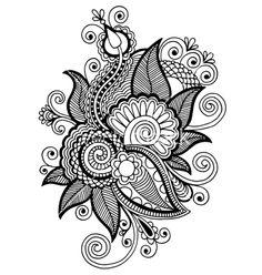 Coloriage d un superbe mandala en forme de fleur stylis - Comment dessiner une fleur de lotus ...