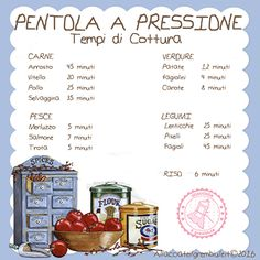 TEMPI COTTURA PENTOLA A PRESSIONE Healthy Life, Healthy Eating, Desperate Housewives, Wellness Fitness, My Favorite Food, Good To Know, Cooking Tips, The Cure, Food And Drink